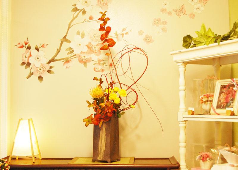 紅葉の生け花3