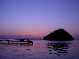 浅虫での日没風景