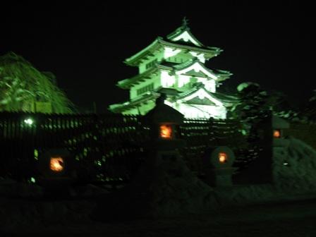 雪燈籠まつり 天守閣