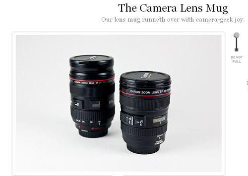 カメラレンズのマグカップ