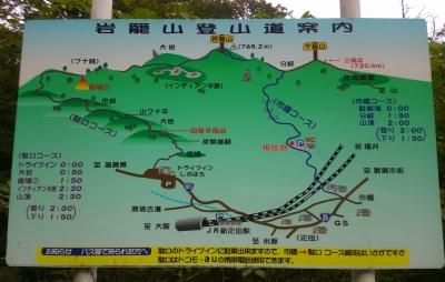 岩籠山登山地図