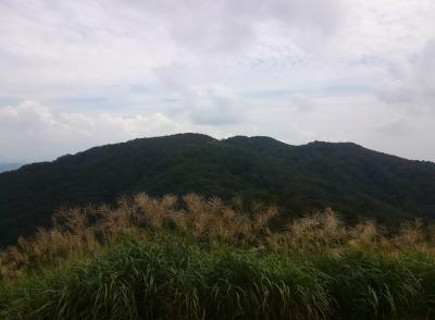 夕暮山から岩籠山を見る