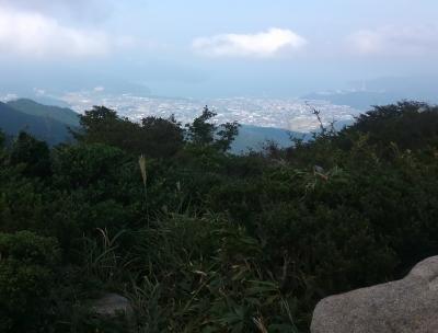 インディアン平原から敦賀湾を望む