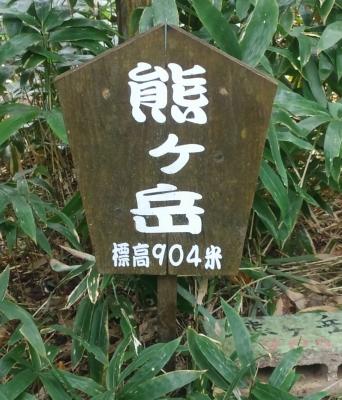熊ケ岳山頂