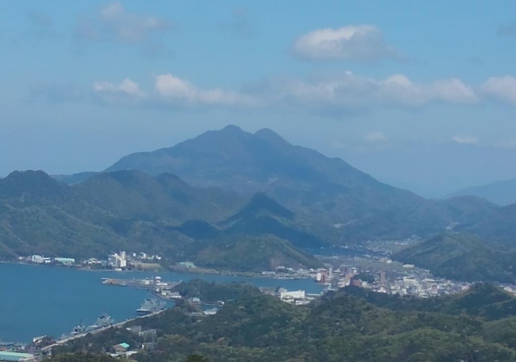 五老岳から見える青葉山