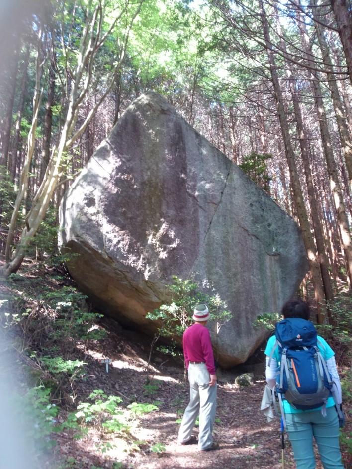 大きな猿飛岩