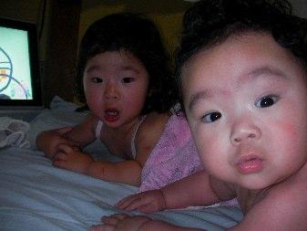 風呂上がり姉妹