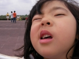 柚子、渋い顔