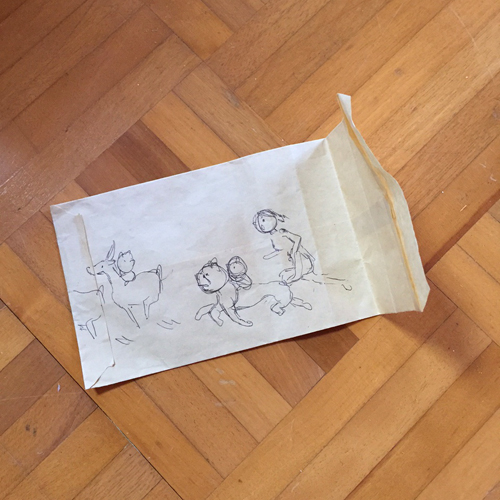 尾崎たえこ ラフ画