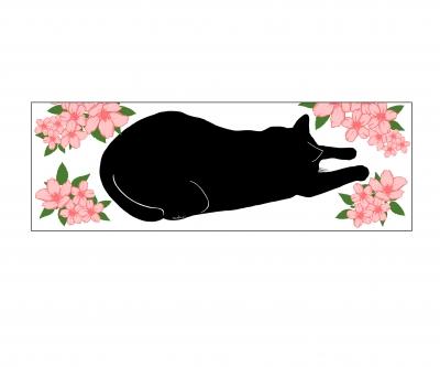 ぺたんこ猫黒