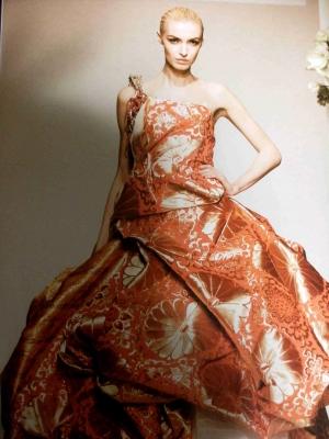桂由美西陣織ドレス