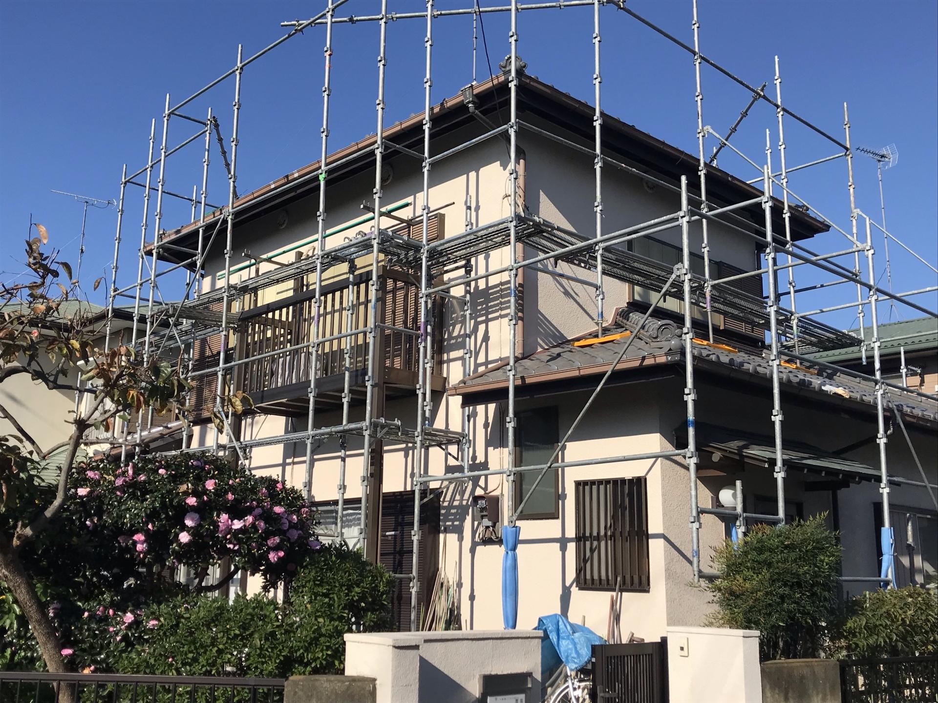 雨樋の交換と屋根瓦漆喰の工事画像