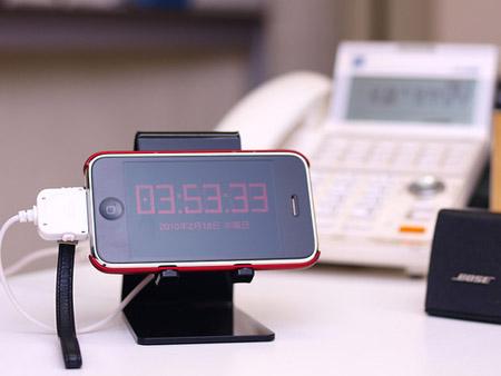 iPhone iPod対応デスクスタンド サンワサプライPDA-STN2BK