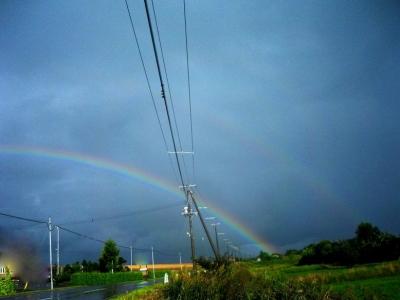 平成21年8月24日の虹 (二重に見えます)