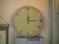 畳で創った円形畳時計
