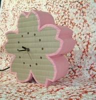 畳で作ったサクラ時計?�