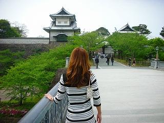 金沢城を臨む