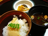 食事〜筍ご飯 止め椀 香の物