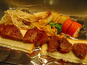 神戸牛のビフテキ