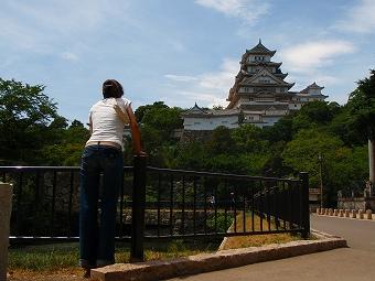 姫路城到着