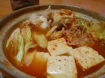 キムチ鍋inあったものΣ(゚Д゚)!