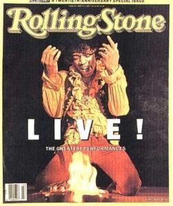 Jimi Hendrix Live Rolling Stones Cover June 1987 - 1st time Jimi Hendrix burns his guitar (London)