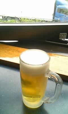 風呂上がりのビール
