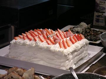 人望がケーキの大きさに表れております