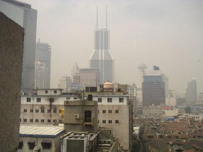 上海の晴れはこんなもん