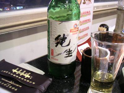 青島の大瓶、日本では見ないよね(たぶん)