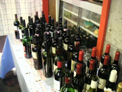 赤ワインだけで、これ位