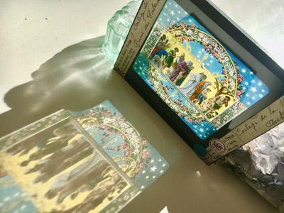 キリスト教のガラススライド