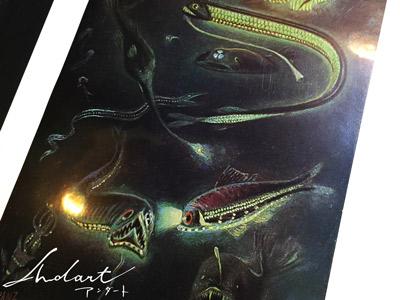 深海生物の図版