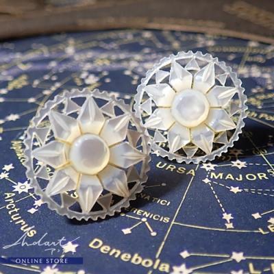 【 Andart 】 マザーオブパール / ベツレヘムの星 / Earring ( O )