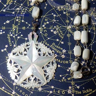 【 Andart 】 マザーオブパール / ベツレヘムの星 / Necklase ( P )
