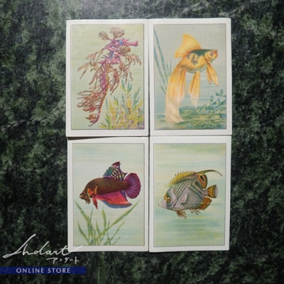 【 Andart 】Chocolate Card / Nestle,Peter,Caller,Kohler / Poissons fantastiques / 1950