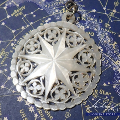 【 Andart 】Mother of Pearl / Necklase ( R )