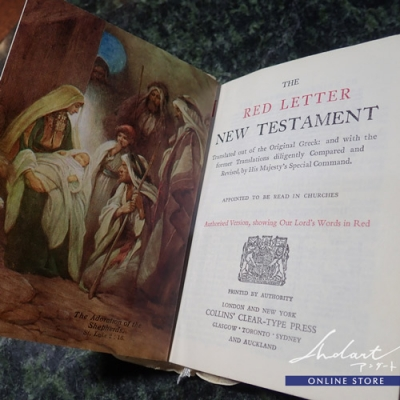 【 Andart 】 Mother of Pearl / RED LETTER NEW TESTAMENT ( White )