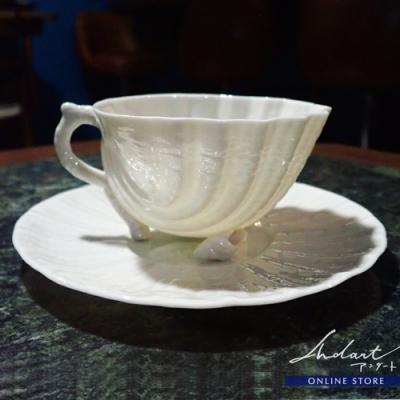 【 Andart 】Belleek / Neptune / カップ&ソーサー ( U )