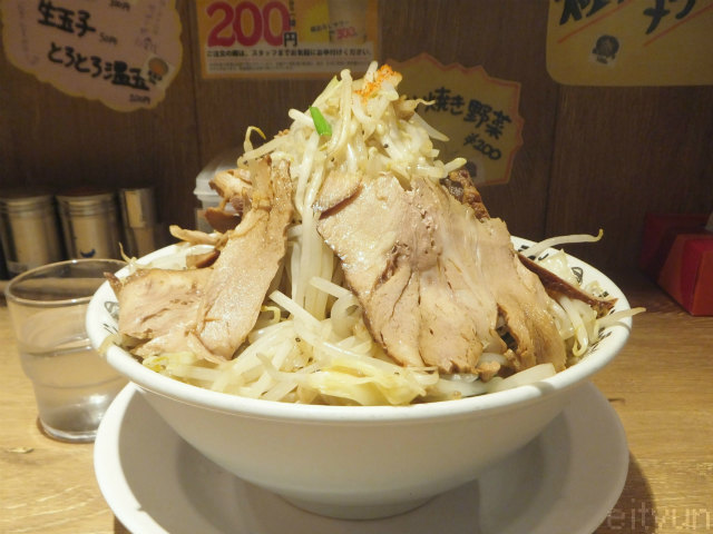 野郎町田@豚野郎大盛野菜増し3.jpg