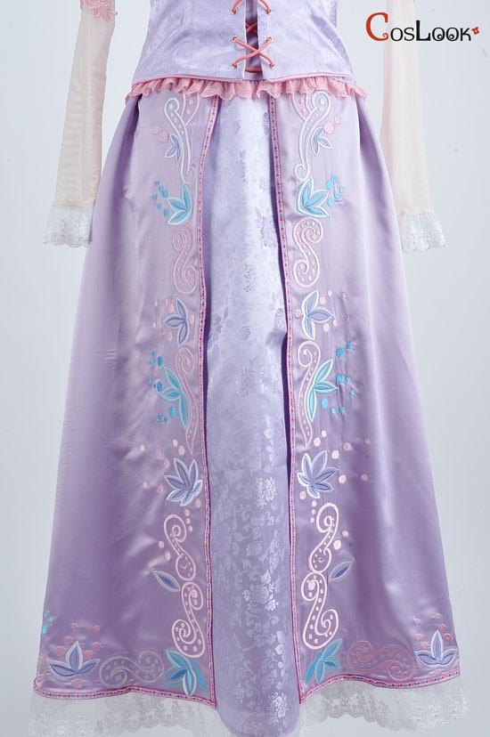 【塔の上のラプンツェル】ラプンツェルコスプレオーダーメイド衣装、ラプンツェルドレス