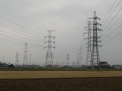 気になる風景送電線(大木町)
