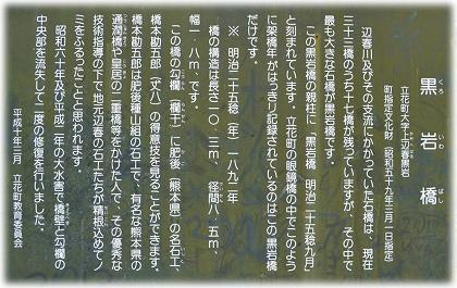 黒岩橋解説板(八女市)