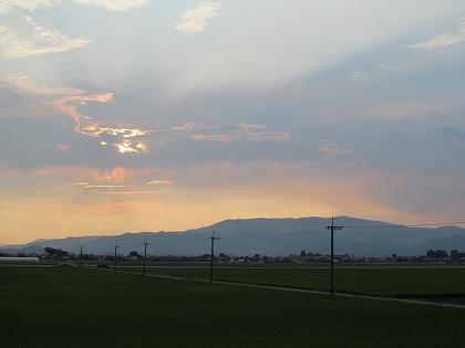 背振山の夕焼け