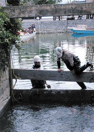 柳川で城掘の「水落ち