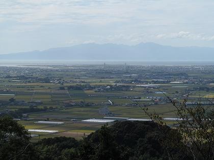 清水山から有明海の展望