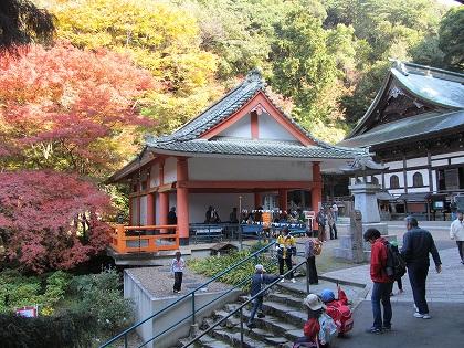 清水寺本堂の紅葉