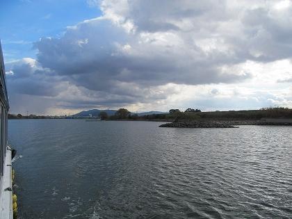 筑後川クルーズ、耳納連山遠景