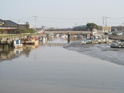 花宗川下流の潟