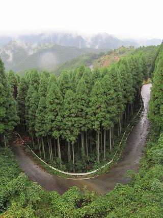 竹原峠県境の山々